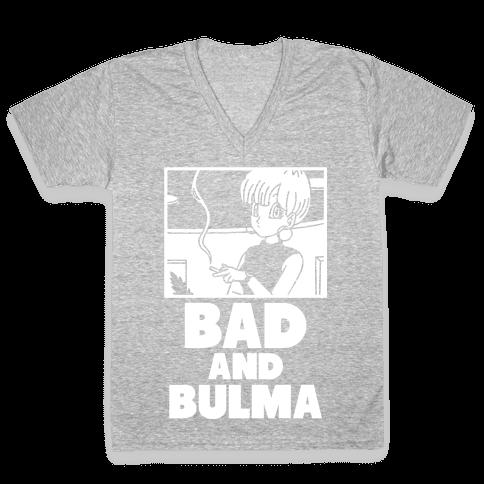 Bad And Bulma V-Neck Tee Shirt