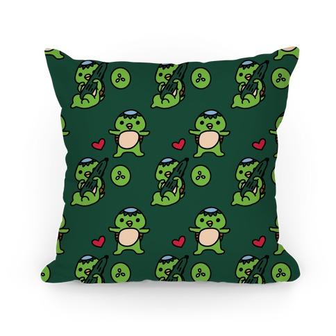 Kawaii Kappa Pattern Pillow