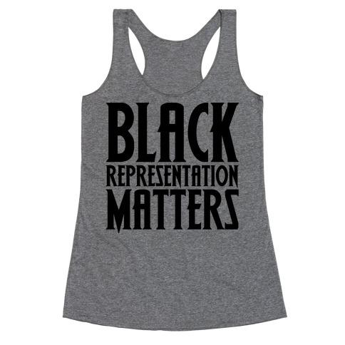 Black Representation Matters Racerback Tank Top