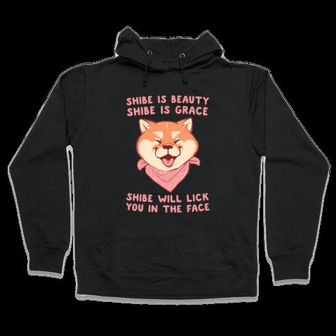 Shibe is Beauty, Shibe is Grace Hooded Sweatshirt