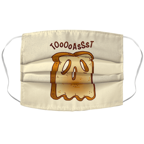 Toast Ghost Accordion Face Mask