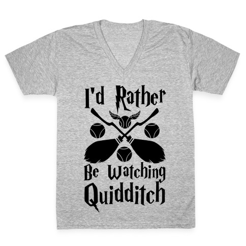 I'd Rather Be Watching Quidditch V-Neck Tee Shirt