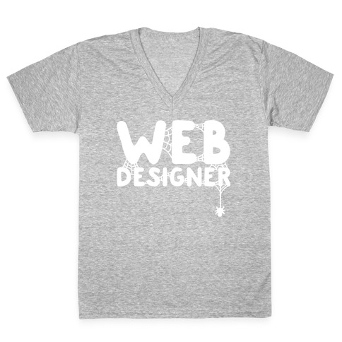 Web Designer V-Neck Tee Shirt