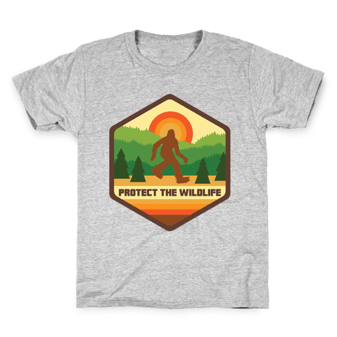 Protect The Wildlife (Bigfoot) Kids T-Shirt