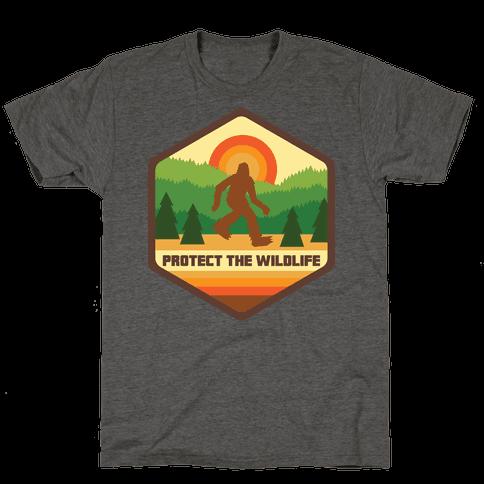 Protect The Wildlife (Bigfoot) Mens/Unisex T-Shirt