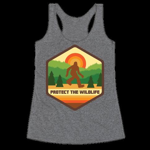 Protect The Wildlife (Bigfoot) Racerback Tank Top