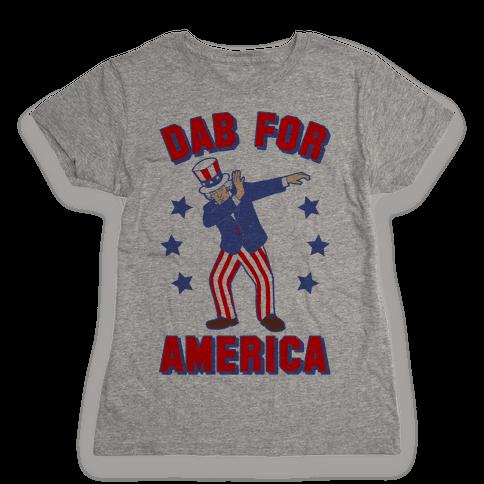 Dab For America Womens T-Shirt