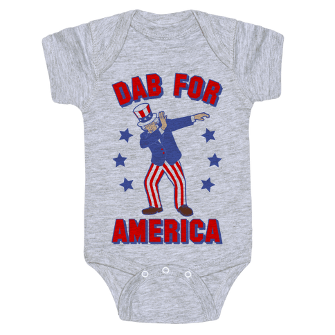Dab For America Baby Onesy