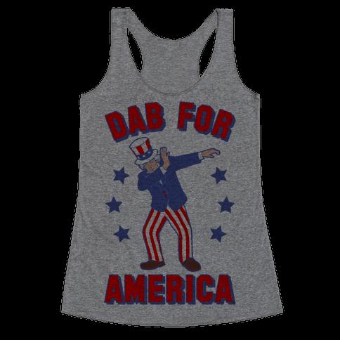 Dab For America Racerback Tank Top