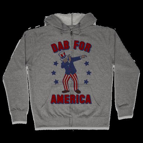 Dab For America Zip Hoodie