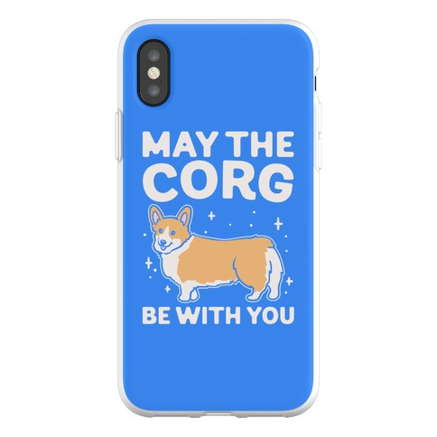May The Corg Be With You Parody Phone Flexi-Case
