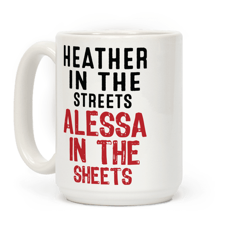 Heather in the Sheets Coffee Mug