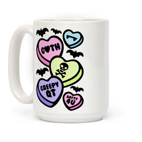 Goth Candy Hearts Coffee Mug