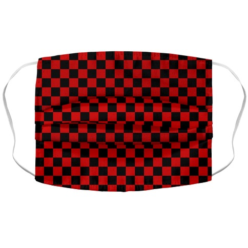 Checkered Black and Red Face Mask