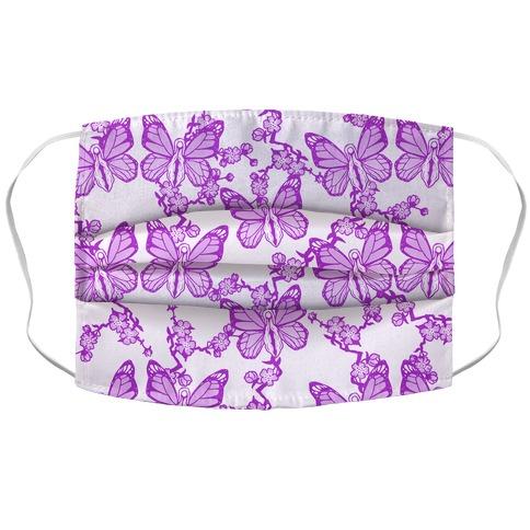 Butterfly Vagina Pattern Face Mask