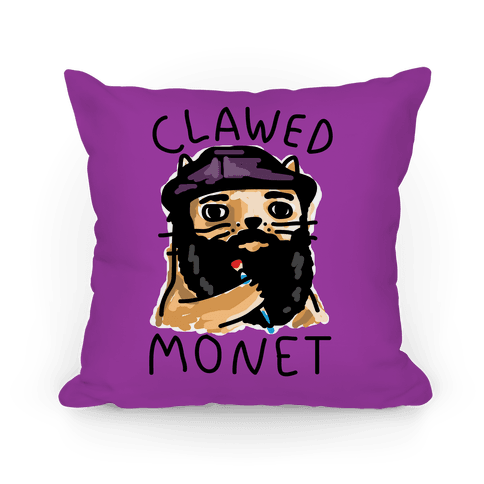 Clawed Monet Pillow