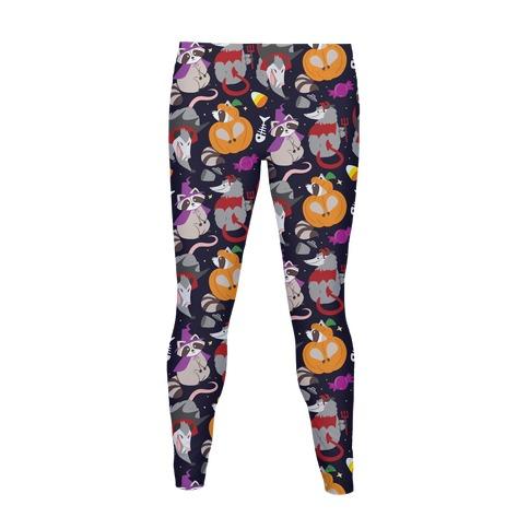 Trashy Animals Halloween Pattern Women's Legging