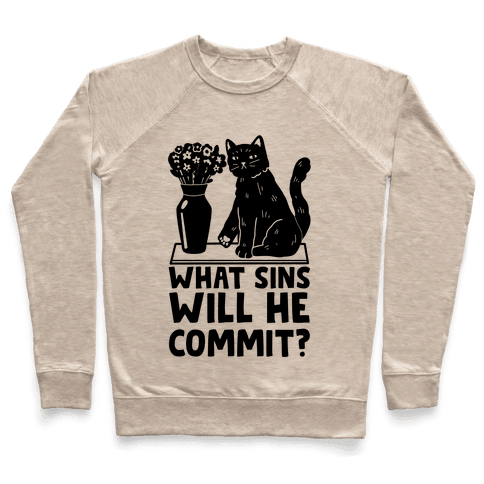What Sins Will He Commit? Cat Pullover