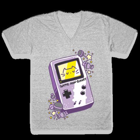 Game Non-binary V-Neck Tee Shirt