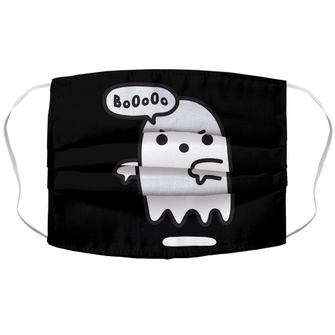 Disapproving Ghost Accordion Face Mask