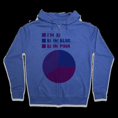 Bisexual Chart Zip Hoodie