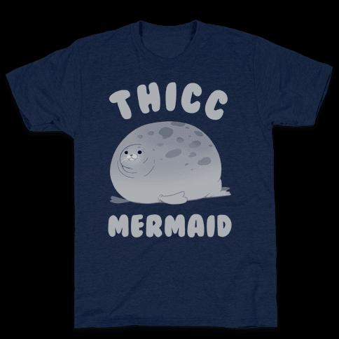 Thicc Mermaid Mens T-Shirt