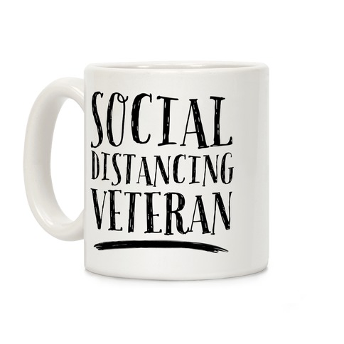 Social Distancing Veteran Coffee Mug