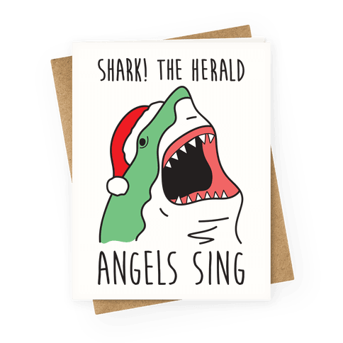 Shark! The Herald Angels Sing Greeting Card