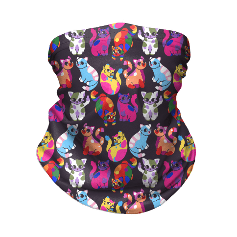 Cartoon Pride Cats Pattern Neck Gaiter