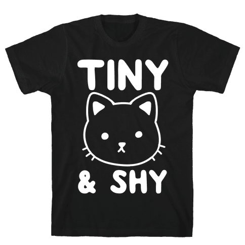 Tiny & Shy Cat Mens T-Shirt