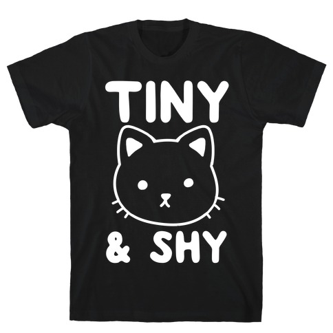 Tiny & Shy Cat Mens T-Shirt