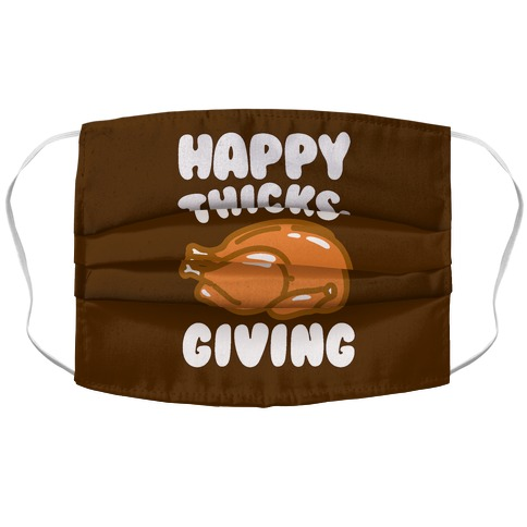 Happy Thicks-Giving Accordion Face Mask
