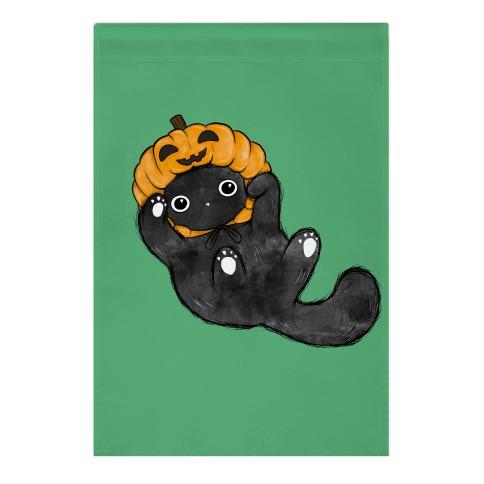 Halloween Pumpkin Cat  Garden Flag