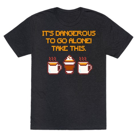It's Dangerous To Go Alone Take This Pumpkin Parody White Print T-Shirt