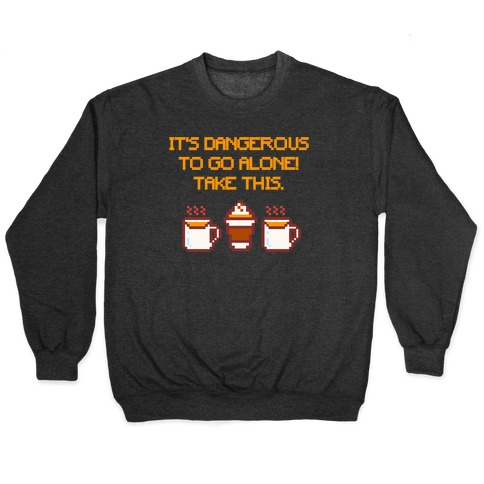 It's Dangerous To Go Alone Take This Pumpkin Parody White Print Pullover