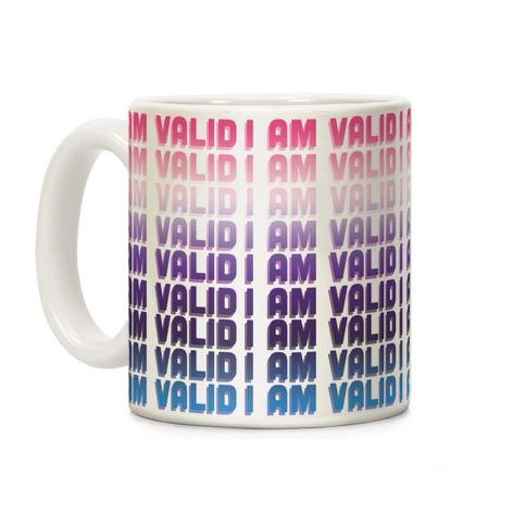 I Am Valid - Genderfluid Coffee Mug