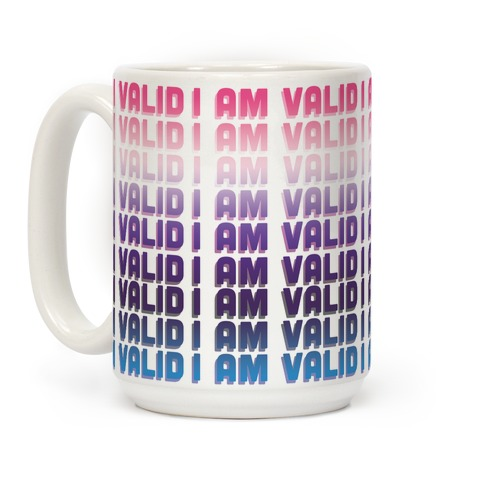 I Am Valid - Genderfluid Coffee Mug