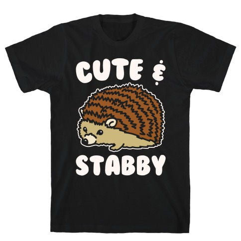 Cute & Stabby White Print T-Shirt