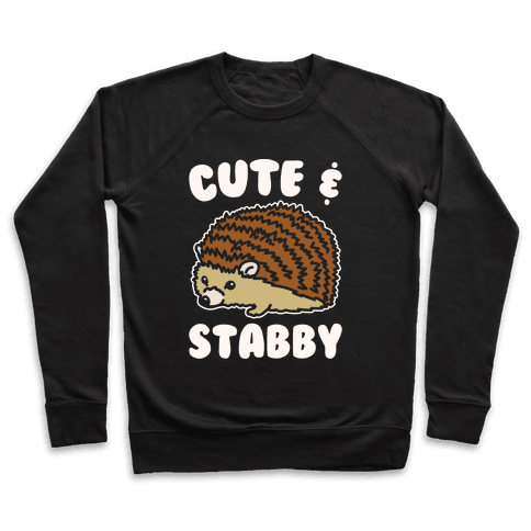Cute & Stabby White Print Pullover