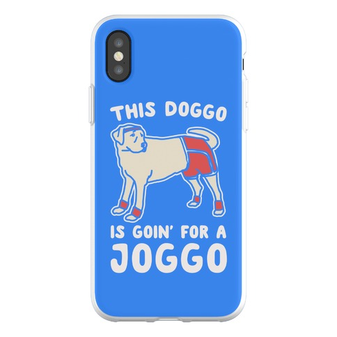 This Doggo Is Goin' For A Joggo Phone Flexi-Case