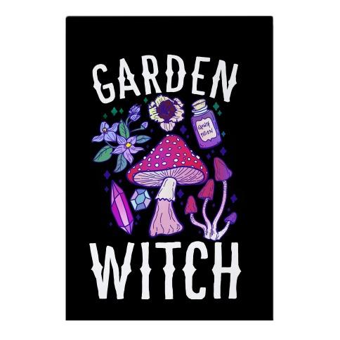 Garden Witch Garden Flag