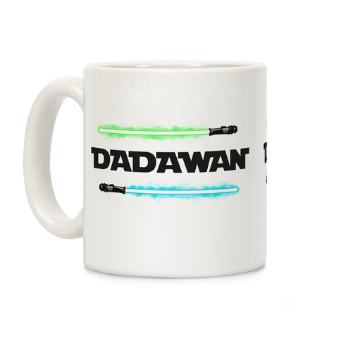 Padawan Dadawan Star Wars Parody Blue/Green Light Sabers Coffee Mug