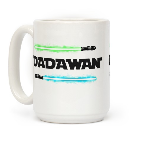Padawan Dadawan Star Wars Parody Blue/Green Light Sabers Coffee Mug