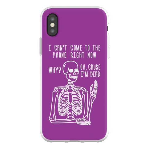 Look What You Made Me Do Skeleton Parody Phone Flexi-Case