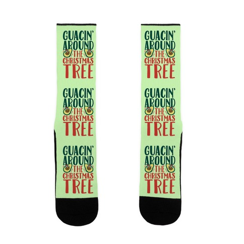 Guacin' Around The Christmas Tree Sock
