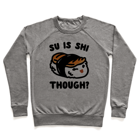 Su Is Shi Though White Print Pullover