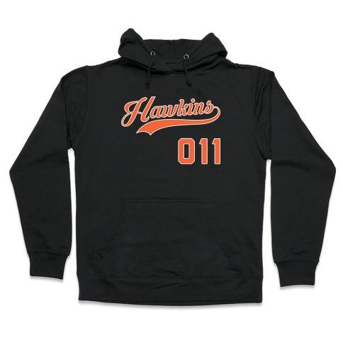 Hawkins Baseball (White) Hooded Sweatshirt