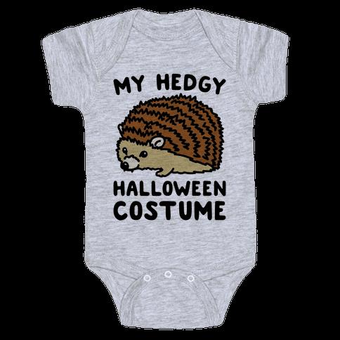My Hedgy Halloween Costume Hedgehog  Baby Onesy