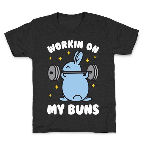 Workin On My Buns Kids T-Shirt