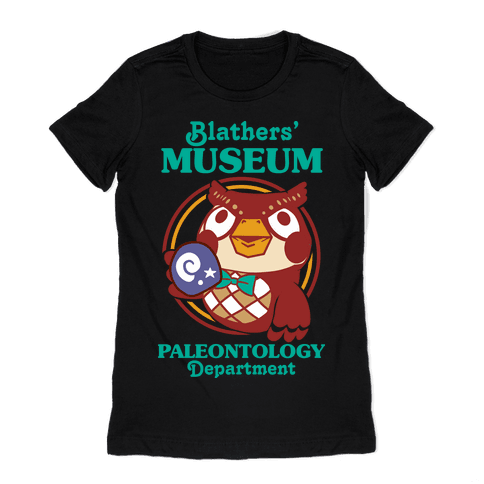 Blathers' Museum Paleontology Department Womens T-Shirt